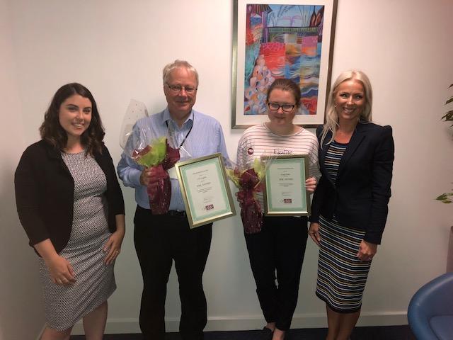 PPR Award Winners – June – Georgia Walker and July – Colin Langdale