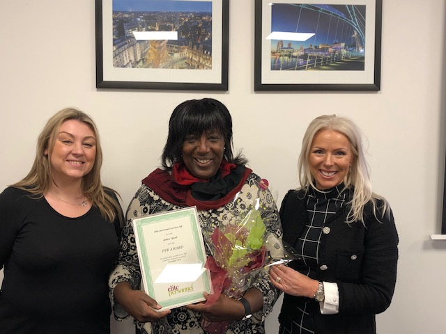 November 2018 Temporary Worker Award  Winner – Janice Speed