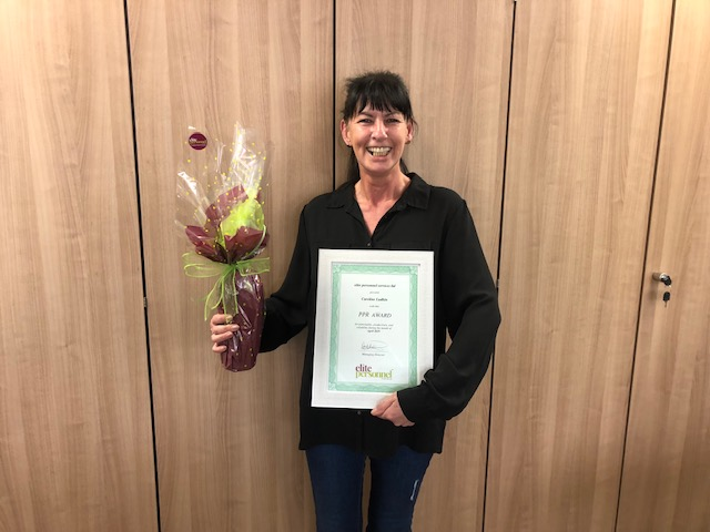 April 2019 Temporary Worker Award  Winner -Caroline Ludkin