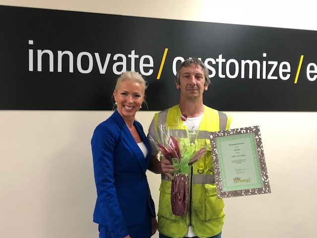 June 2019 Temporary Worker Award  Winner – Joe Evans