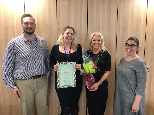 July 2019 Temporary Worker Award  Winner – Bethany O'Keeffe