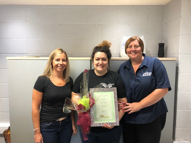August 2019 Temporary Worker Award  Winner – Emily Dale