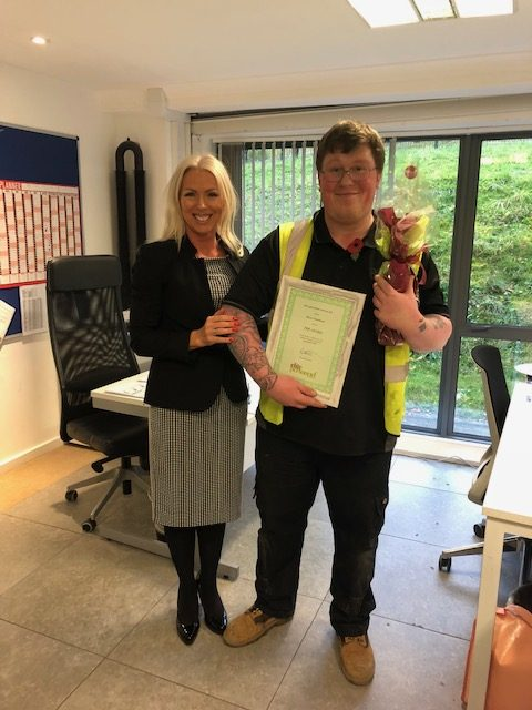 September 2019 Temporary Worker Award  Winner – Harry Smallman