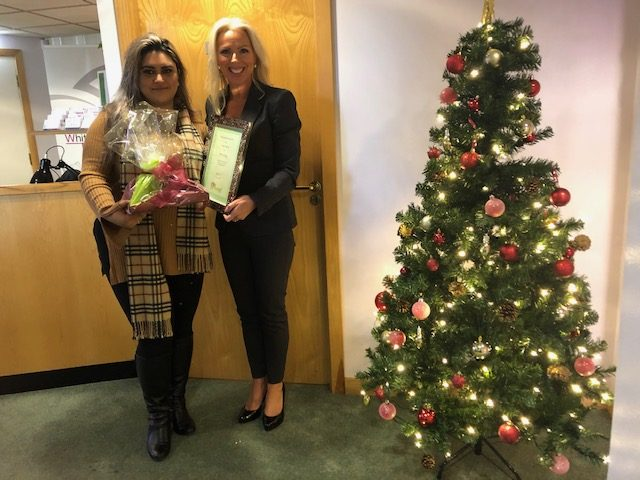 November 2019 Temporary Worker Award  Winner – Umma-honi Ali