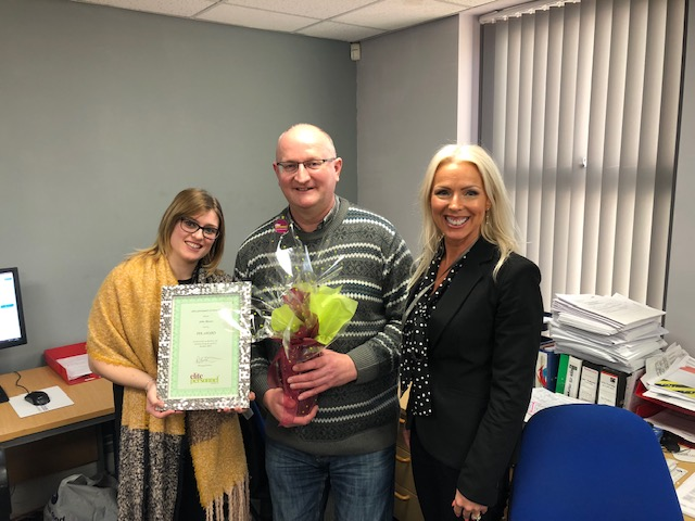 October 2019 Temporary Worker Award  Winner – John Moran
