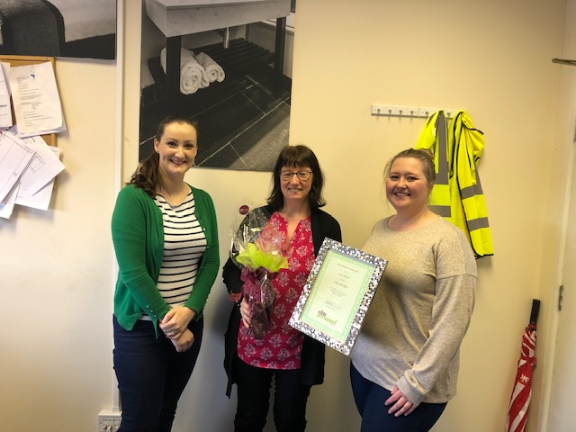 February 2020 Temporary Worker Award  Winner – Janet Davies